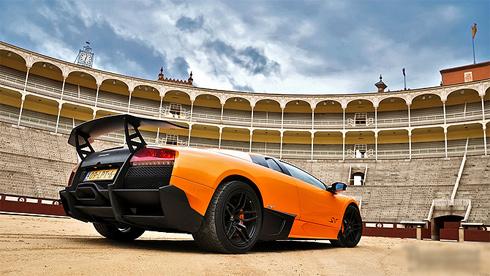 Siêu xe Lamborghini làm bò tót-2