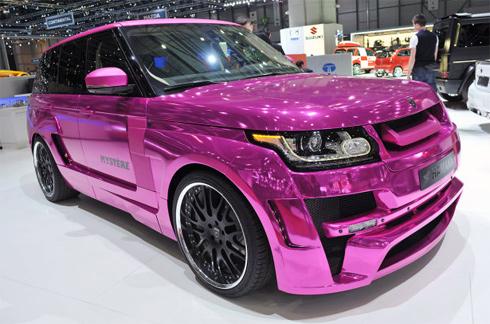 Độ Range Rover mạ crôm hồng – Phiên bản đặc biệt