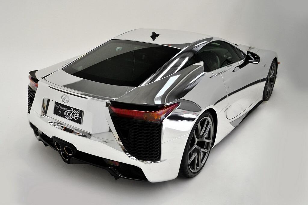 Siêu xe Lexus LFA mạ chrome