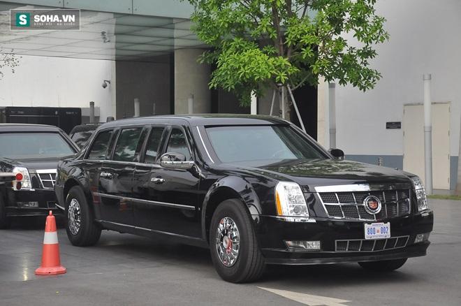 Cận cảnh dàn xe Cadillac ra sân bay Nội Bài đón TT Obama
